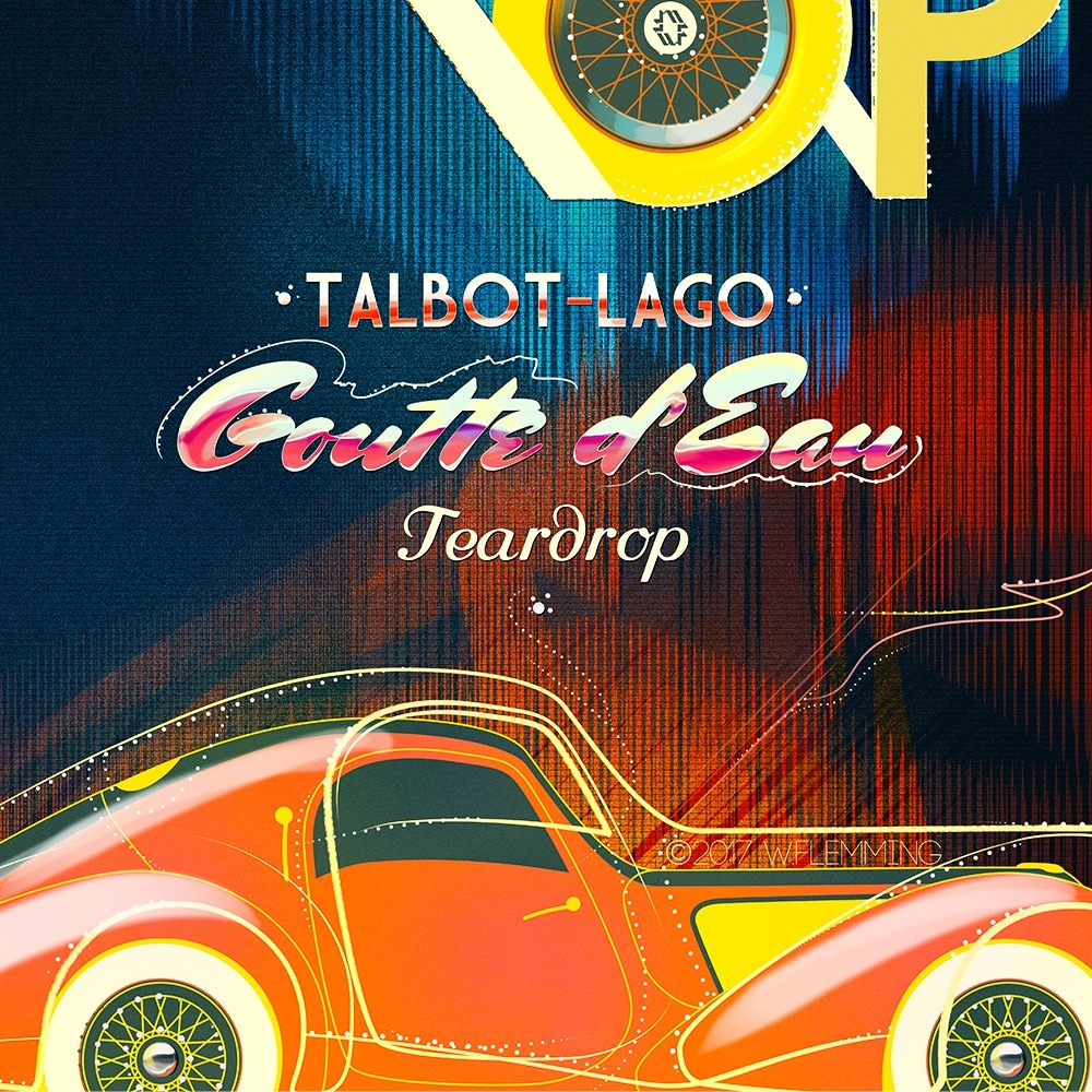Talbot Lago Classic Car poster by W.Flemming